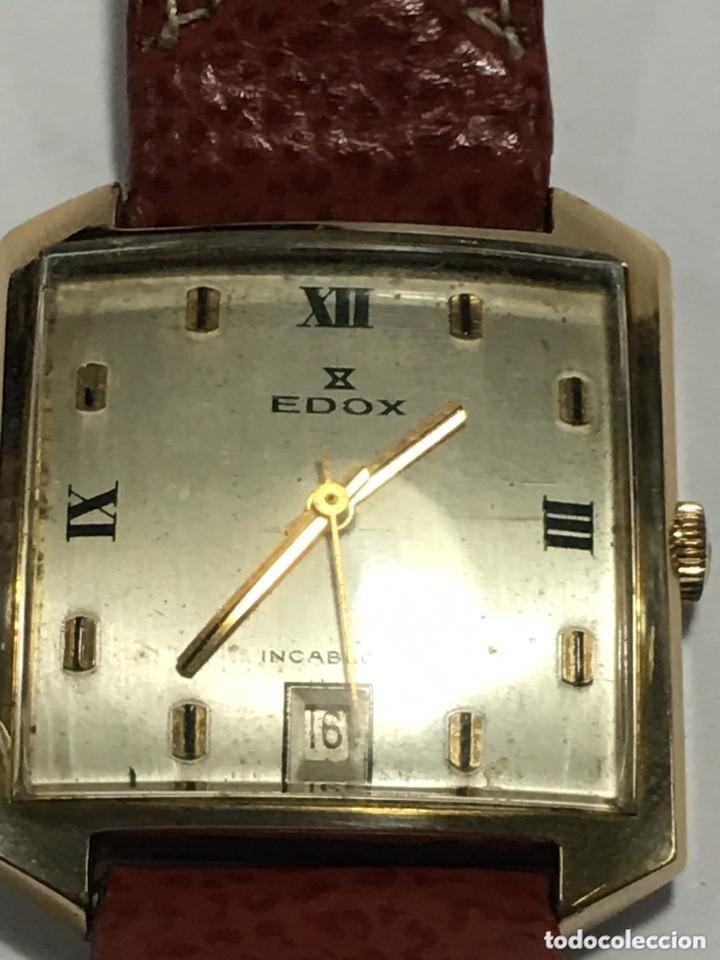 RELOJ EDOX FUNCIONA MUY BIEN MAQUINARIA SUIZA ORIGINAL MODELO RARO (Relojes - Pulsera Carga Manual)