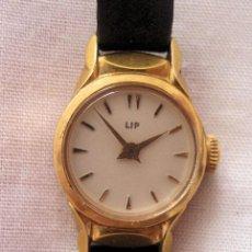 Relojes de pulsera: RELOJ DE CUERDA LIP ANTIGUO PLAQUE ORO. Lote 191307295