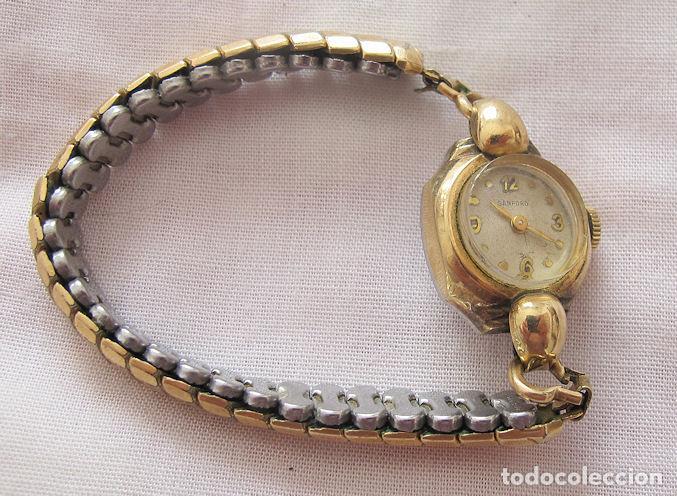 RELOJ DE CUERDA ANTIGUO SANFORD PLAQUE ORO (Relojes - Pulsera Carga Manual)
