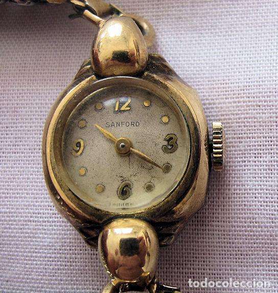 Relojes de pulsera: RELOJ DE CUERDA ANTIGUO SANFORD PLAQUE ORO - Foto 2 - 155359510