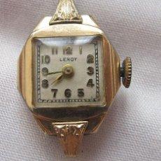 Relojes de pulsera: RELOJ DE CUERDA ANTIGUO LEROY PLAQUE ORO. Lote 155359802