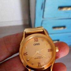 Relojes de pulsera: VINTAGE ORIS SUIZO NUEVO DORADO CUERDA. . Lote 155796130