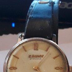 Relojes de pulsera: RELOJ DE PULSERA CABALLERO CARGA MANUAL CAUNY PRIMA, FUNCIONA. Lote 156240546