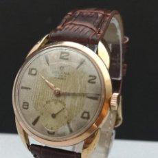 Relojes de pulsera: RELOJ CUERDA VINTAGE DELVINA SUPER (UNITAS 176) - 17 JOYAS - ANTIMAGNETIC - 35 MM - GOLD PLATED G20. Lote 156524402