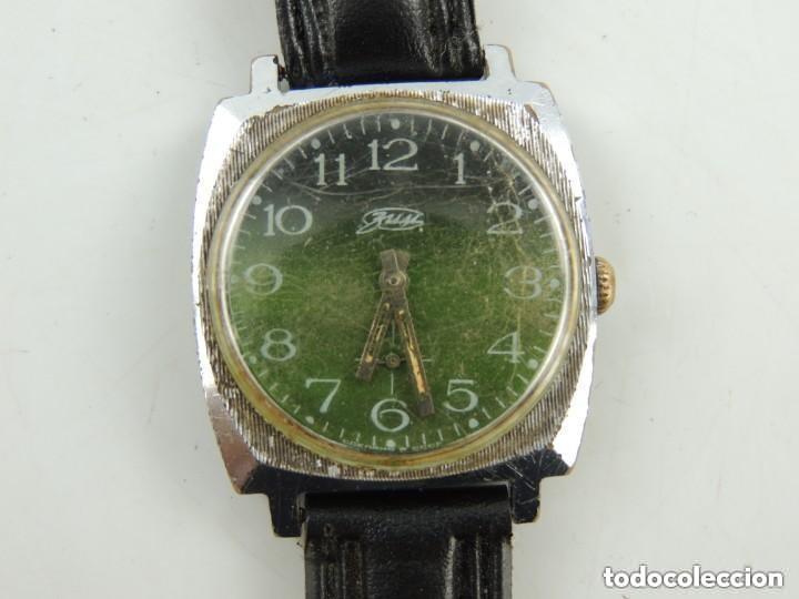 Relojes de pulsera: Antiguo Reloj Pulsera de Marca Zim Años 60 USSR Rusia Carga Manual - Foto 4 - 156555554