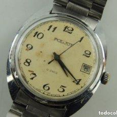 Relojes de pulsera: ANTIGUO RELOJ PULSERA DE MARCA POLJOT CON CALENDARIO AÑOS 60 USSR RUSIA CARGA MANUAL. Lote 156555610