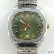 Relojes de pulsera: ANTIGUO RELOJ PULSERA DE MARCA SLAVA CON CALENDARIO AÑOS 60 USSR RUSIA CARGA MANUAL. Lote 156555650