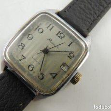Relojes de pulsera: ANTIGUO RELOJ PULSERA DE MARCA RAKETA CON CALENDARIO AÑOS 60 USSR RUSIA CARGA MANUAL. Lote 156555690