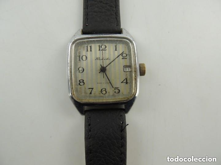 Relojes de pulsera: Antiguo Reloj Pulsera de Marca Raketa con Calendario Años 60 USSR Rusia Carga Manual - Foto 4 - 156555690
