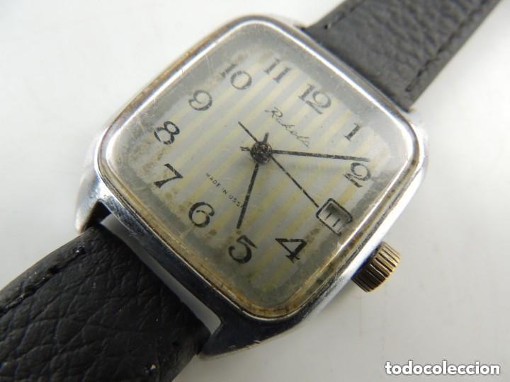 Relojes de pulsera: Antiguo Reloj Pulsera de Marca Raketa con Calendario Años 60 USSR Rusia Carga Manual - Foto 5 - 156555690