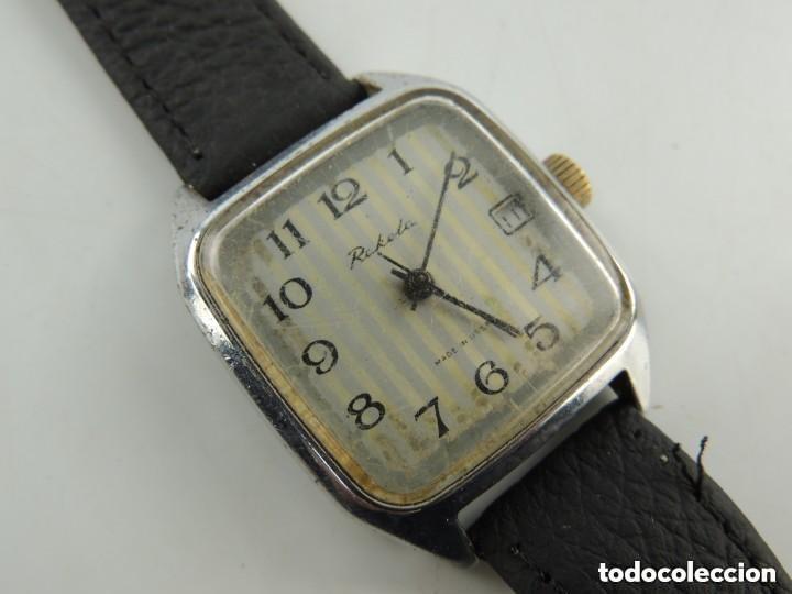 Relojes de pulsera: Antiguo Reloj Pulsera de Marca Raketa con Calendario Años 60 USSR Rusia Carga Manual - Foto 7 - 156555690