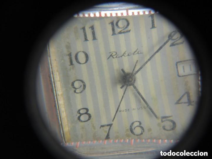 Relojes de pulsera: Antiguo Reloj Pulsera de Marca Raketa con Calendario Años 60 USSR Rusia Carga Manual - Foto 8 - 156555690