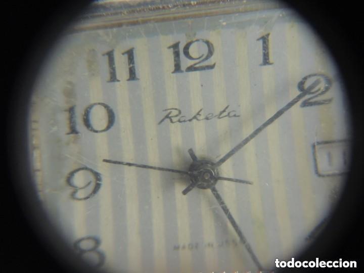 Relojes de pulsera: Antiguo Reloj Pulsera de Marca Raketa con Calendario Años 60 USSR Rusia Carga Manual - Foto 9 - 156555690