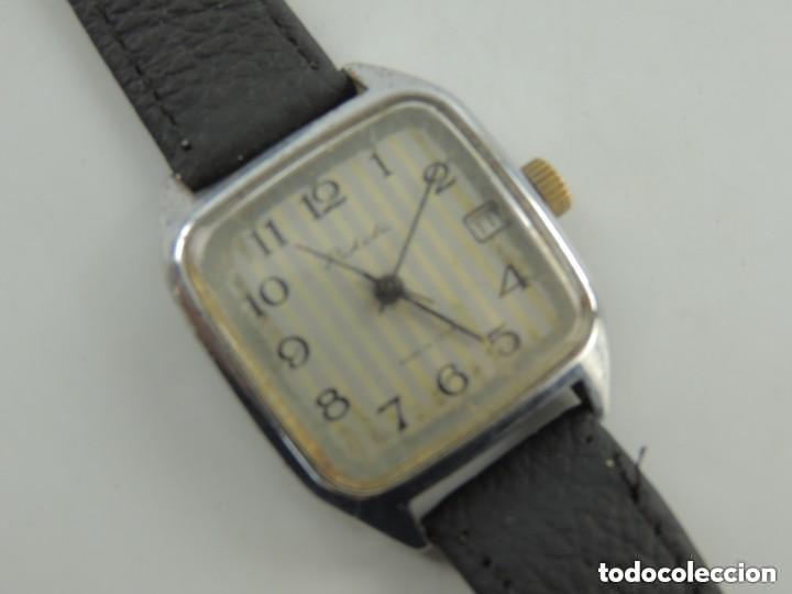 Relojes de pulsera: Antiguo Reloj Pulsera de Marca Raketa con Calendario Años 60 USSR Rusia Carga Manual - Foto 11 - 156555690