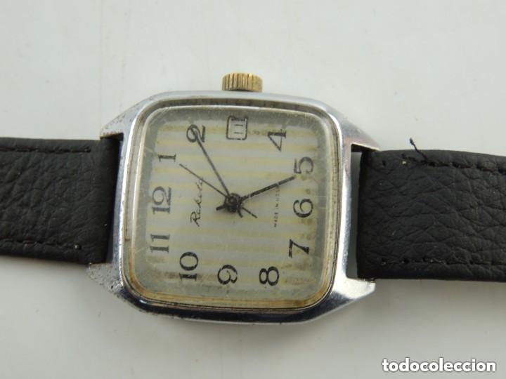 Relojes de pulsera: Antiguo Reloj Pulsera de Marca Raketa con Calendario Años 60 USSR Rusia Carga Manual - Foto 14 - 156555690