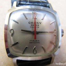 Relojes de pulsera: ANTIGUO RELOJ DE CUERDA CAUNY. Lote 156555738