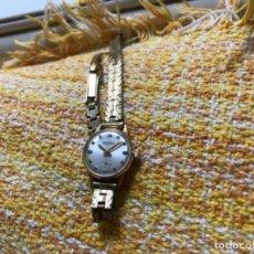 Relojes de pulsera: RELOJ DOGMA SEÑORA CHAPADO 12 MICRAS DE ORO 17 RUBIS. Lote 156565694