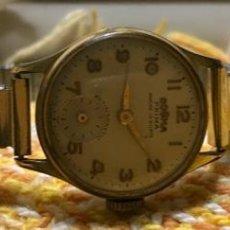 Relojes de pulsera: RELOJ DOGMA PRIMA SEÑORA CHAPADO ORO 15 RUBÍS. Lote 156565922
