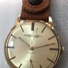 Relojes de pulsera: RELOJ SANTANA 17 JEWELS ( EDOX ) CHAPADO DE ORO CARGA MANUAL EN PERFECTO ESTADO. Lote 156981349