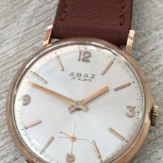 Relojes de pulsera: RELOJ ABAZ 17 RUBIS CARGA MANUAL CLASSIC CHAPADO DE ORO CABALLERO COMO NUEVO PARA HOMBRE. Lote 157038506