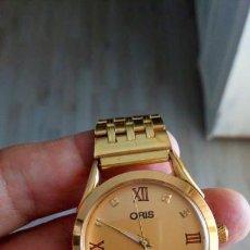 Relojes de pulsera: VINTAGE RELOJ ORIS DORADO DEPORTIVO SUIZO CUERDA. Lote 157800090