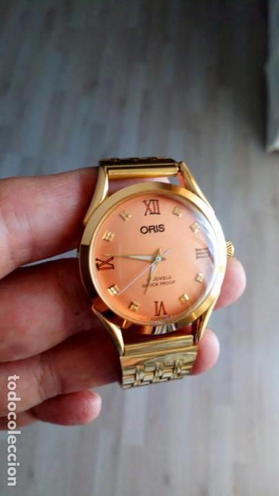 Relojes de pulsera: VINTAGE RELOJ ORIS DORADO DEPORTIVO SUIZO CUERDA - Foto 2 - 157800214