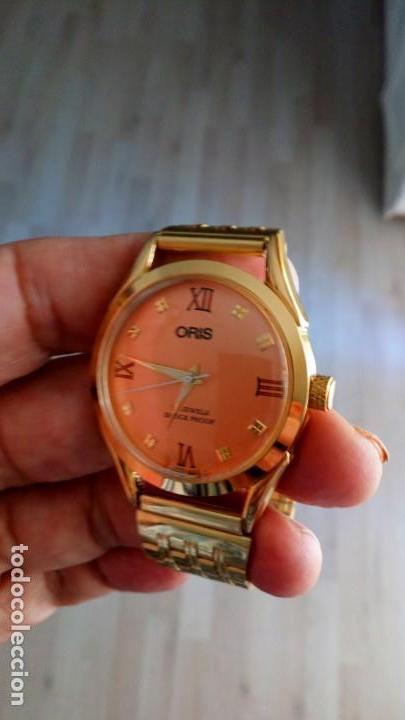 Relojes de pulsera: VINTAGE RELOJ ORIS DORADO DEPORTIVO SUIZO CUERDA - Foto 3 - 157800214