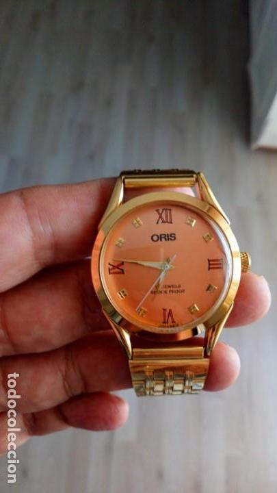 VINTAGE RELOJ ORIS DORADO DEPORTIVO SUIZO CUERDA (Relojes - Pulsera Carga Manual)