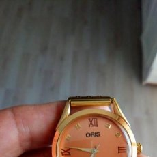 Relojes de pulsera: VINTAGE RELOJ ORIS DORADO DEPORTIVO SUIZO CUERDA. Lote 157800214
