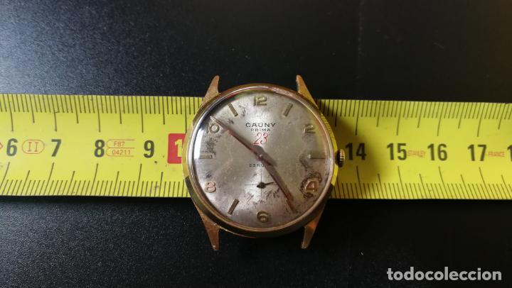 Relojes de pulsera: Reloj Cauny chapado en oro de 23 rubis o jewels, funcionando, aunque atrasa cuando le parece - Foto 6 - 157987914