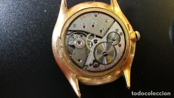 Relojes de pulsera: Reloj Cauny chapado en oro de 23 rubis o jewels, funcionando, aunque atrasa cuando le parece - Foto 8 - 157987914
