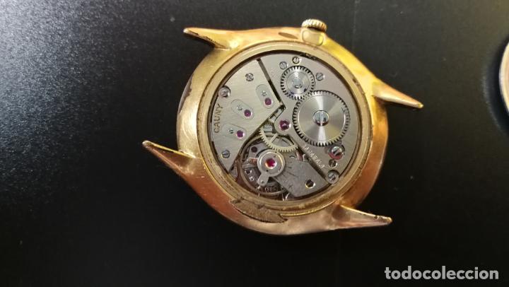 Relojes de pulsera: Reloj Cauny chapado en oro de 23 rubis o jewels, funcionando, aunque atrasa cuando le parece - Foto 9 - 157987914