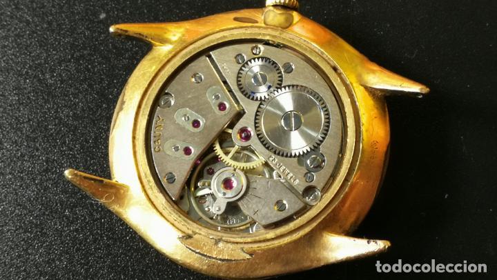 Relojes de pulsera: Reloj Cauny chapado en oro de 23 rubis o jewels, funcionando, aunque atrasa cuando le parece - Foto 10 - 157987914