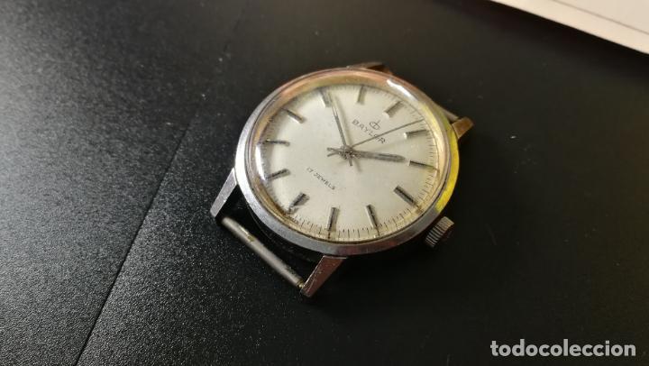 Relojes de pulsera: Reloj BAYLOR de cuerda todo original, di cuerda andó un rato t se paró, antiqué, 17 rubies - Foto 5 - 157988738