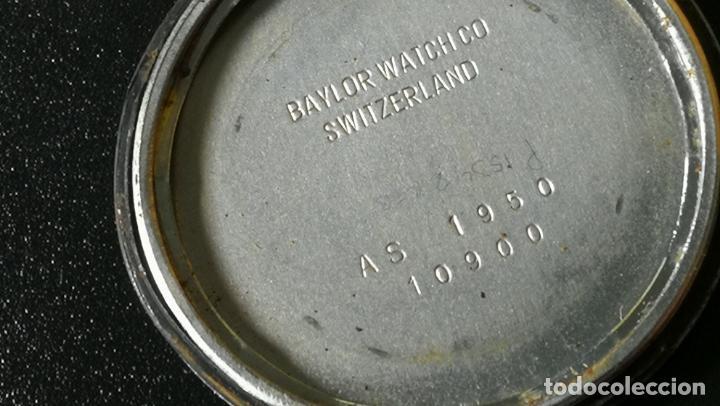 Relojes de pulsera: Reloj BAYLOR de cuerda todo original, di cuerda andó un rato t se paró, antiqué, 17 rubies - Foto 13 - 157988738