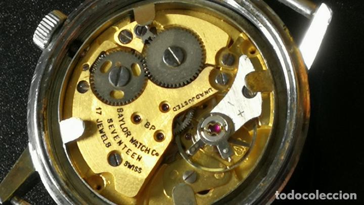 Relojes de pulsera: Reloj BAYLOR de cuerda todo original, di cuerda andó un rato t se paró, antiqué, 17 rubies - Foto 17 - 157988738