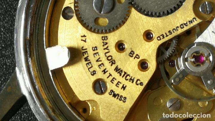 Relojes de pulsera: Reloj BAYLOR de cuerda todo original, di cuerda andó un rato t se paró, antiqué, 17 rubies - Foto 18 - 157988738
