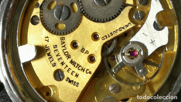 Relojes de pulsera: Reloj BAYLOR de cuerda todo original, di cuerda andó un rato t se paró, antiqué, 17 rubies - Foto 19 - 157988738