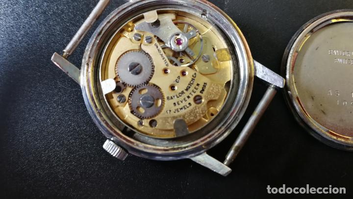 Relojes de pulsera: Reloj BAYLOR de cuerda todo original, di cuerda andó un rato t se paró, antiqué, 17 rubies - Foto 21 - 157988738