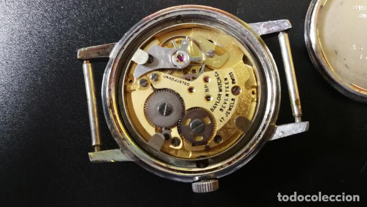 Relojes de pulsera: Reloj BAYLOR de cuerda todo original, di cuerda andó un rato t se paró, antiqué, 17 rubies - Foto 22 - 157988738