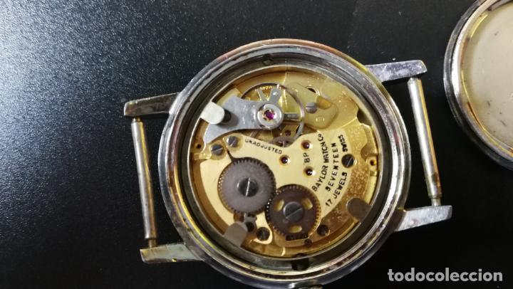 Relojes de pulsera: Reloj BAYLOR de cuerda todo original, di cuerda andó un rato t se paró, antiqué, 17 rubies - Foto 23 - 157988738