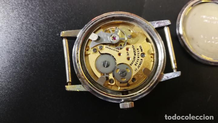 Relojes de pulsera: Reloj BAYLOR de cuerda todo original, di cuerda andó un rato t se paró, antiqué, 17 rubies - Foto 24 - 157988738