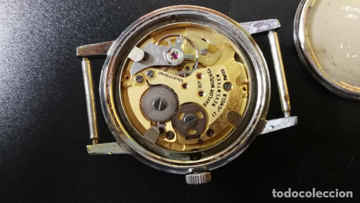 Relojes de pulsera: Reloj BAYLOR de cuerda todo original, di cuerda andó un rato t se paró, antiqué, 17 rubies - Foto 25 - 157988738