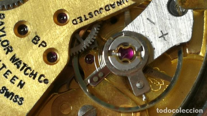 Relojes de pulsera: Reloj BAYLOR de cuerda todo original, di cuerda andó un rato t se paró, antiqué, 17 rubies - Foto 27 - 157988738