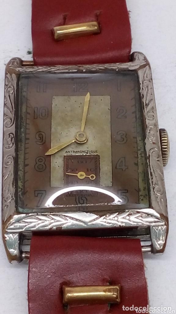 Relojes de pulsera: antiguo reloj del abuelo año 1890,restaurada a una maq suiza en el año 50 funciona bien - Foto 6 - 158027126