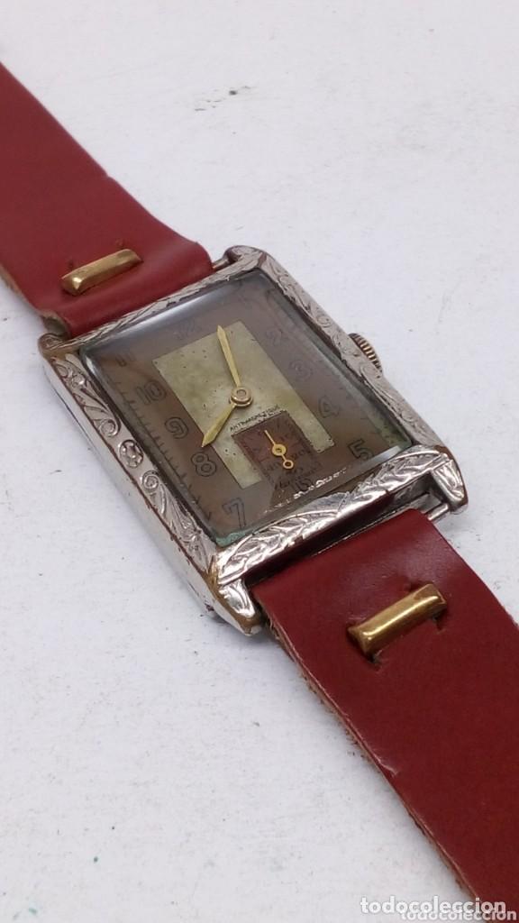 Relojes de pulsera: antiguo reloj del abuelo año 1890,restaurada a una maq suiza en el año 50 funciona bien - Foto 7 - 158027126