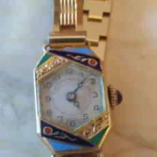 Relojes de pulsera: RELOJ ART DECOR DE SEÑORA CAJA DE ORO DE 18 KILATES. Lote 158181750