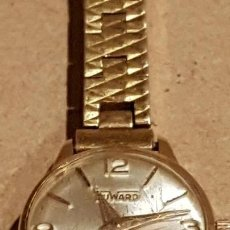 Relojes de pulsera: DUWARD DE SEÑORA / CHAPADO ORO 10 MICRAS / TAPA DE ACERO / NO FUNCIONA.. Lote 164774082
