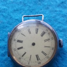 Relojes de pulsera: RELOJ MUY ANTIGUO DE CABALLERO. TRANSICIÓN A PULSERA. ASAS FIJAS. CAJA DE PLATA 925. Lote 158543050