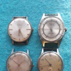 Relojes de pulsera: LOTE DE 4 RELOJES MECÁNICOS PARA CABALLERO. Lote 158639542